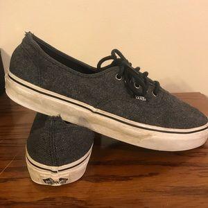 Grey Wool Vans
